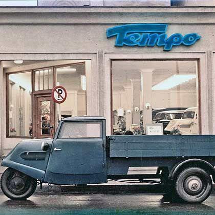 Erfolgsmodell auf drei Rädern: Bis 1955 entstanden in Deutschland mehr als 100.000 Tempo-Lastwagen