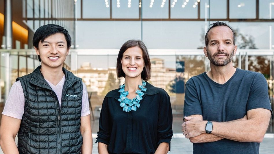 Die drei von der Geldtankstelle: Paul Gu, Anna Counselman und Dave Girouard (r.) haben Upstart gegründet. Das Versprechen: Für Banken wie für Kunden werden die Kredite risikoärmer und damit billiger.