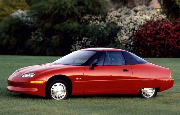 General Motors' EV1 - fast sämtliche Exemplare dieses Elektroautos wurden nach wenigen Jahren verschrottet