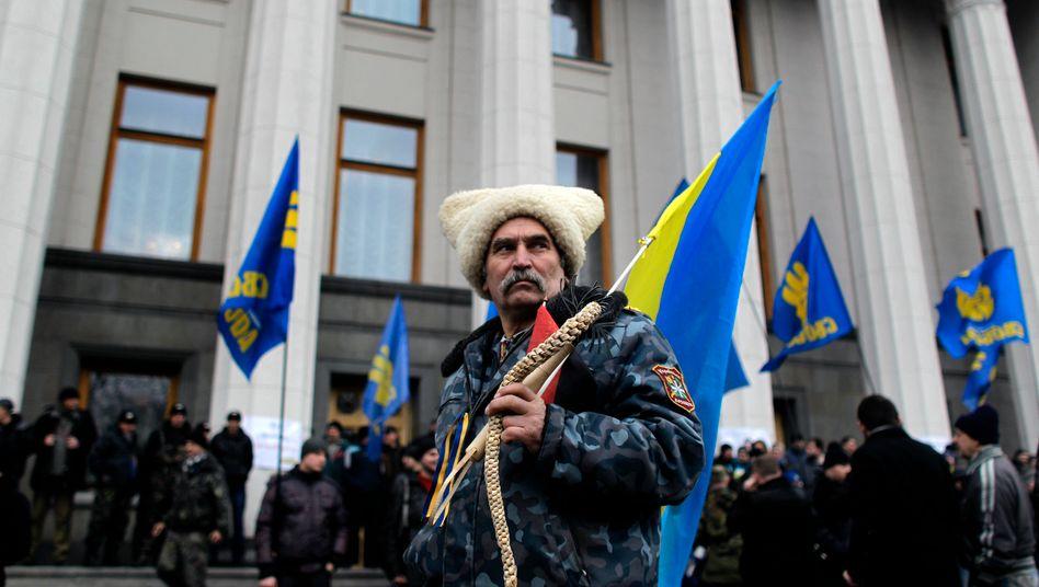 Proteste in Kiew: Nach dem Sturz des prorussischen Präsidenten Janukowitsch ist die Zukunft des Landes ungewiss