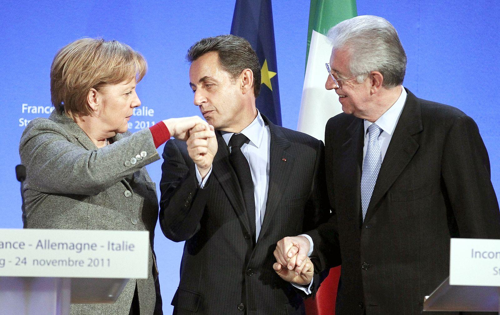 SPIEGEL 48/2011 pp62 SPIN Euro Merkel Sarkozy Monti
