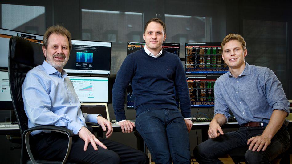 Die Gründer von Scalable Capital: Prof. Dr. Stefan Mittnik, Florian Prucker, Erik Podzuweit