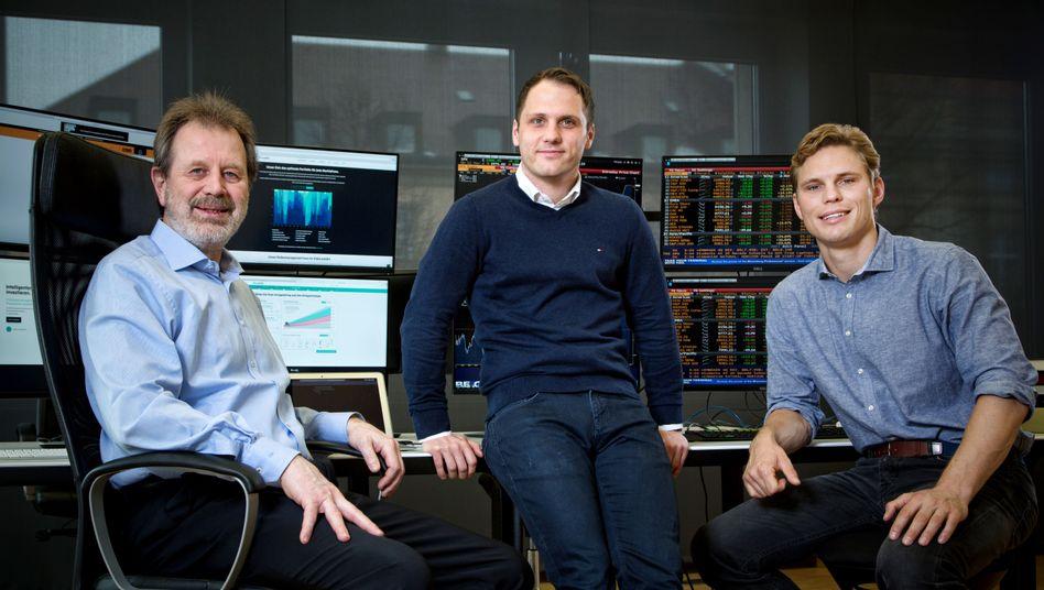 Scalable-Capital-Gründer Stefan Mittnik, Florian Prucker und Erik Podzuweit
