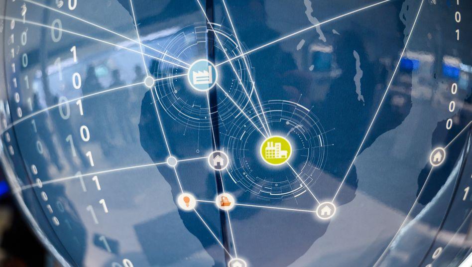 Vernetzung als Verkaufsschlager: Siemens präsentiert Lösungen der Digital Factory auf der Hannover Messe.