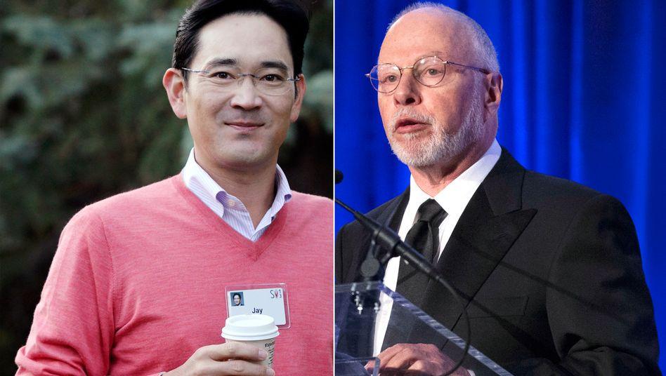 Samsung-Vize Lee, Hedgefonds-Guru Singer: Showdown steht bevor