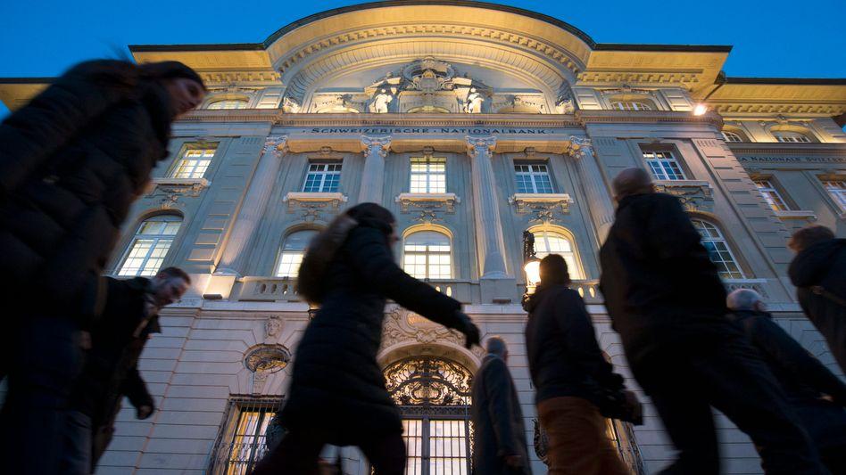 Schweizerische Nationalbank in Bern: 46 Milliarden Euro Gewinn in 2017