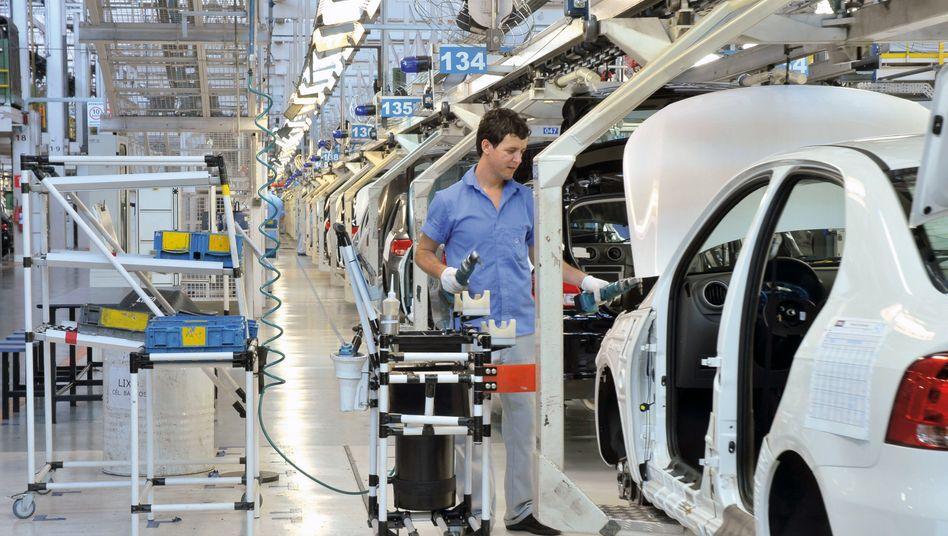 VW-Werk Taubaté in Brasilien: Die 30-prozentige Steuererhöhung gilt für Autobauer, die ihre Fahrzeuge zum größten Teil im Ausland produzieren