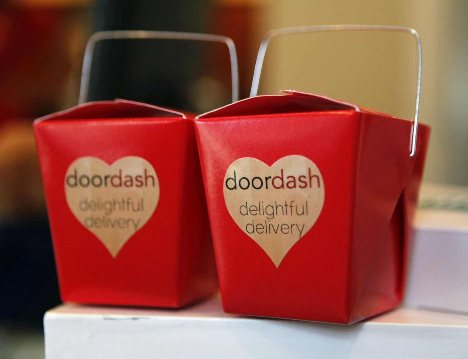 Aug 21 2013 Palo Alto CA USA Gift boxes for first time orders from DoorDash are featured in