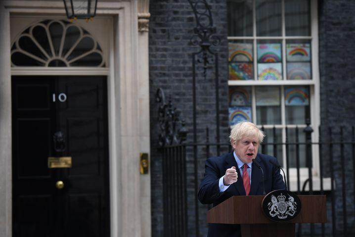 Boris Johnson warnt am Montag vor zweiter Coronavirus-Welle