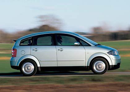 Alukarosse macht leicht: Der Audi A2 1.2 TDI mit 45 kW verbraucht rund drei Liter Diesel