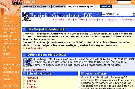 Gutenberg.de bei SPIEGEL ONLINE