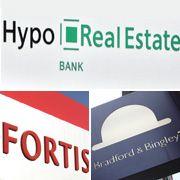 Hypo Real Estate, Fortis, Brandford & Bingley: Auch Europäische Geldhäuser geraten in Schieflage