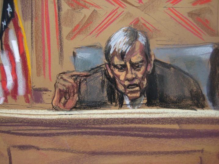 Richter Thomas Griesa (Gerichtszeichnung): Mit 83 Jahren noch Geschichte geschrieben