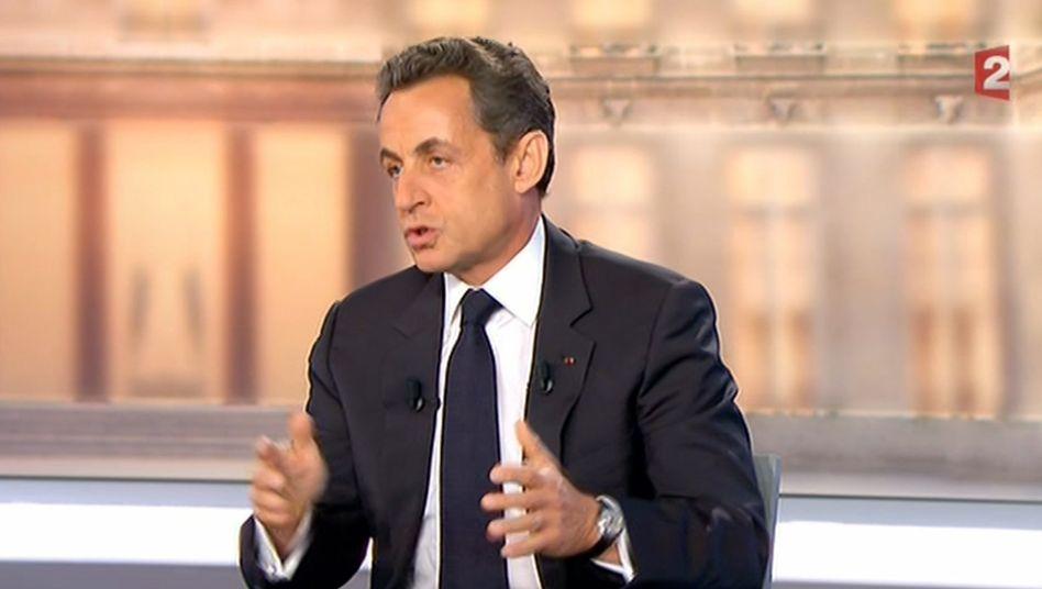 Frankreichs amtierender Präsident Nicolas Sarkozy: Aufbäumen im TV-Duell