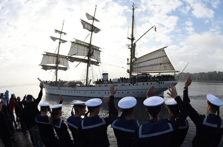"""Die """"Gorch Fock"""" 2014 im Kieler Hafen"""