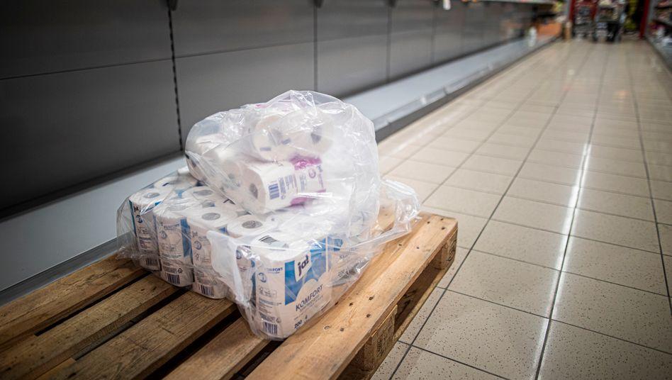 Plötzliche Geschäftserwartung: Toilettenpapier ist ausverkauft