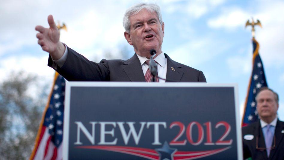 """Republikaner Gingrich: """"Ich setzte meine Kampagne aus, aber das bedeutet nicht, dass ich meinen Bürgersinn aussetze"""""""