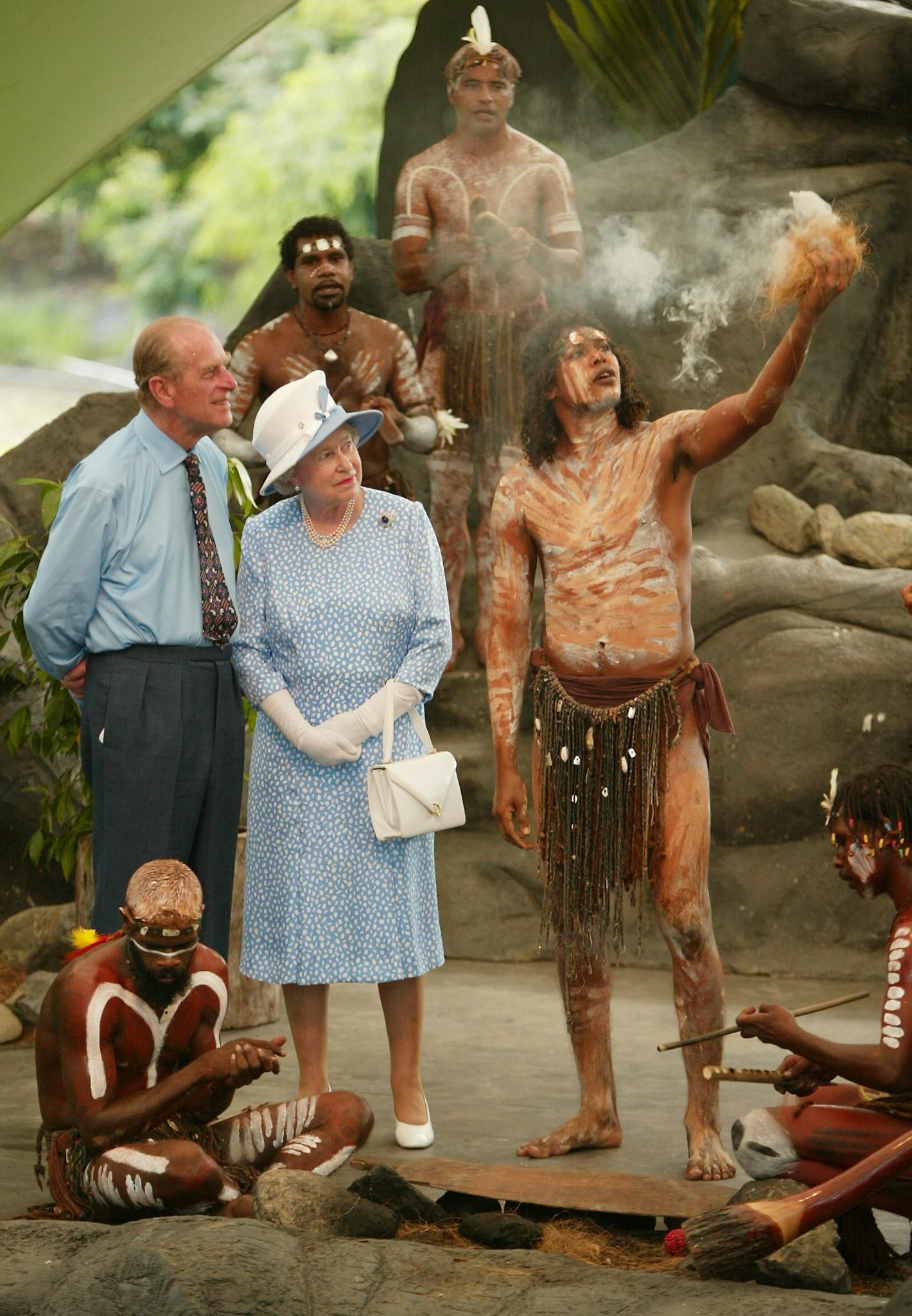 Prinz Philip, die Queen & Aborigines