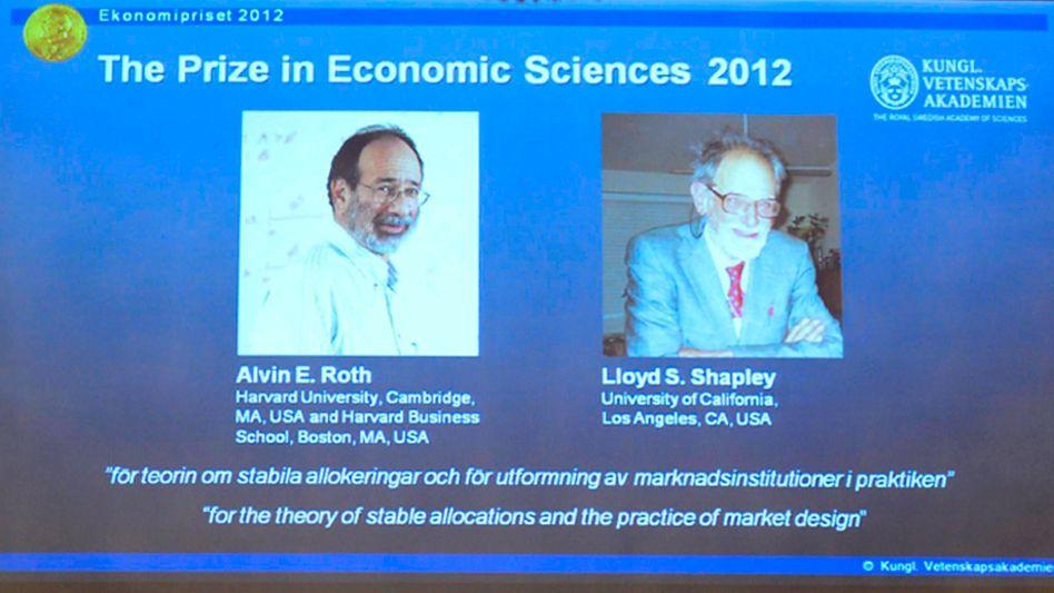 Preisverleihung in Stockholm: Preisträger sind wieder US-Ökonomen