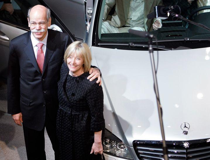 Einfach weitermachen: Daimler-Chef Zetsche mit seiner Ehefrau Gisela, die vor sechs Jahren an Krebs starb