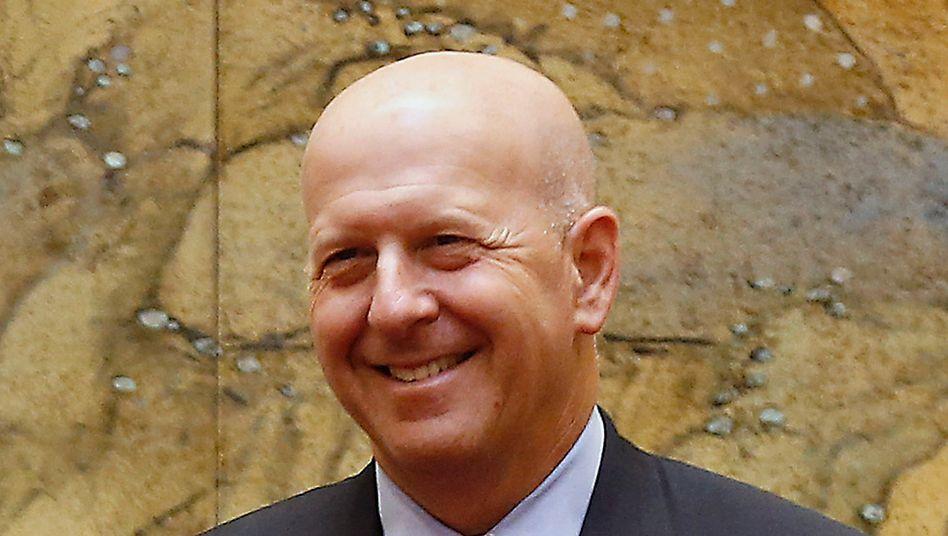 Kann noch lachen: Goldman-Sachs-Chef David Solomon bleiben noch 17,5 Millionen Dollar von seinem Gehalt
