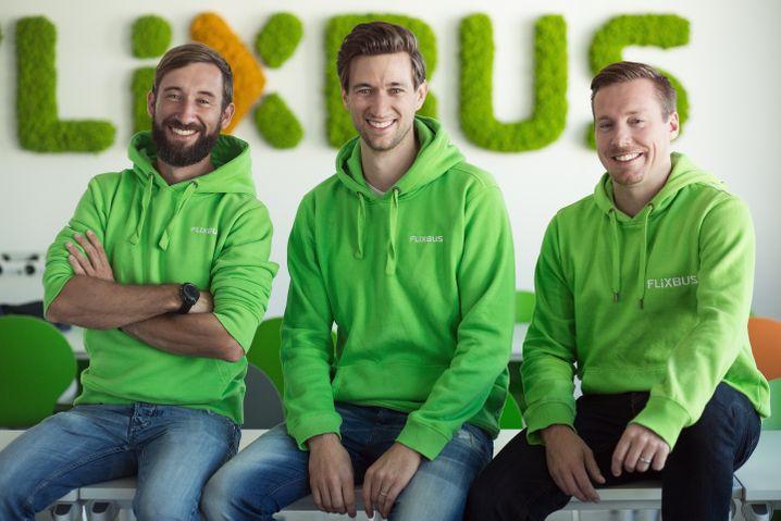Flixbus Gründer Daniel Krauss, Jochen Engert, André Schwämmlein: Mit CO2 Senkung im eigenen Unternehmen vorangehen