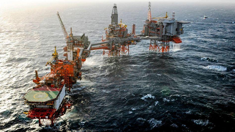 Öl- und Gasfeld Valhall in der Nordsee: BPglaubt, dass die Ölnachfrage bereits ihren Höhepunkt erreicht hat. ExxonMobil erwartet, dass sie bis mindestens 2040 steigen wird.