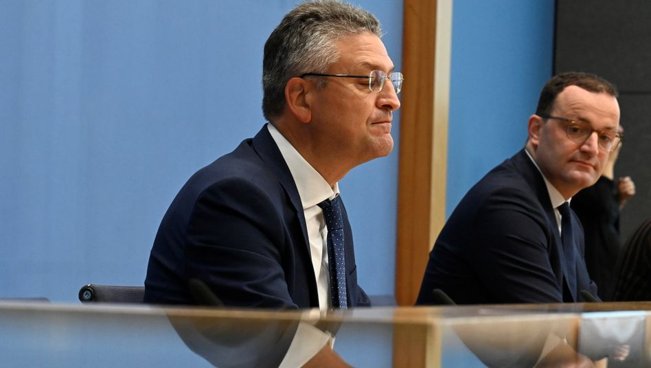 RKI-Präsident Lothar Wieler und Bundesgesundheitsminister Jens Spahn am Donnerstag