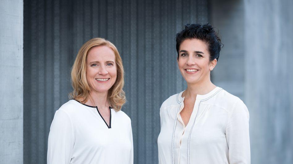 Die Chefinnen des Start-ups Whitebox schaffen es auf Platz zwei: Dr. Birte Rothkopf (l.) und Salome Preiswerk