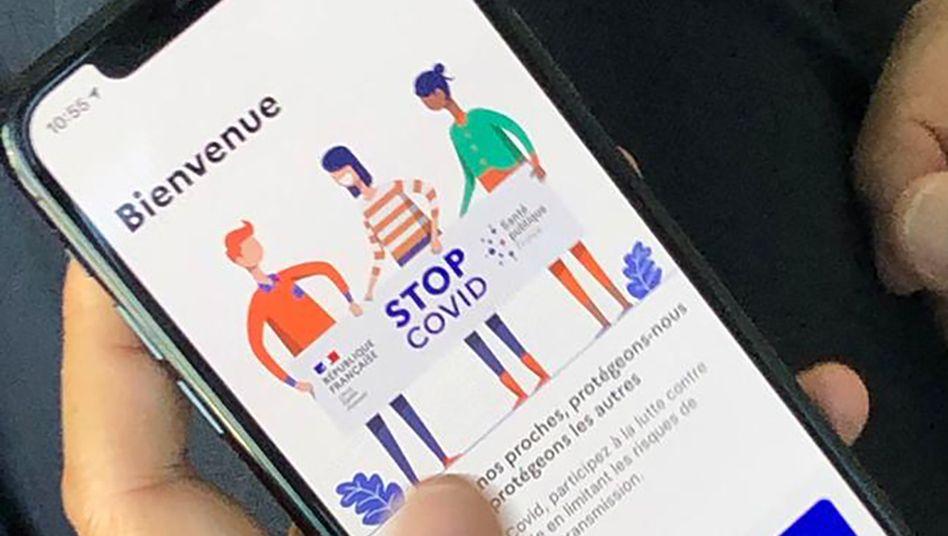 Offizielle Corona-Warn-App in Frankreich