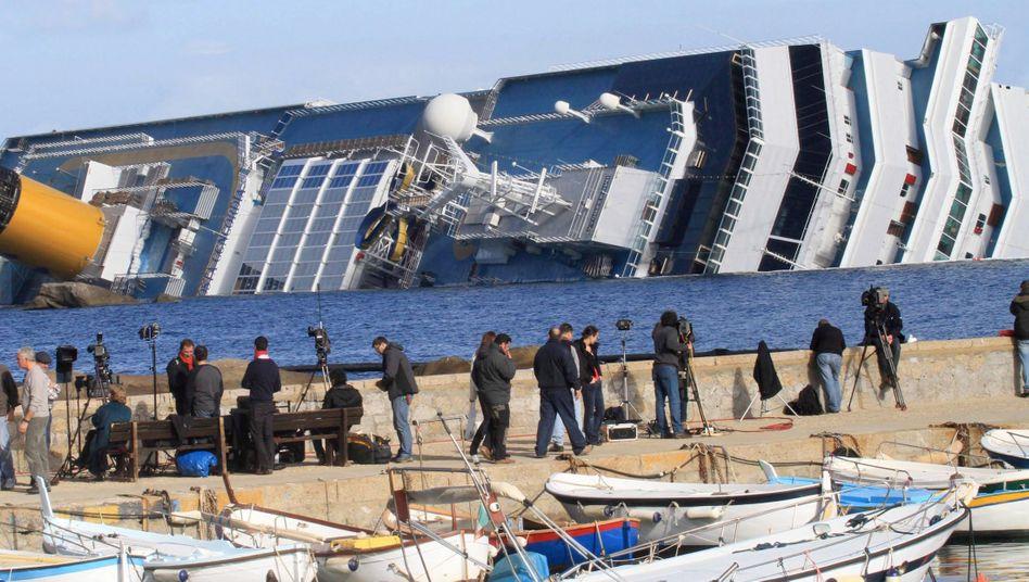 Costa Concordia: Das havarierte Kreuzfahrtschiff beschäftigt nun die Juristen