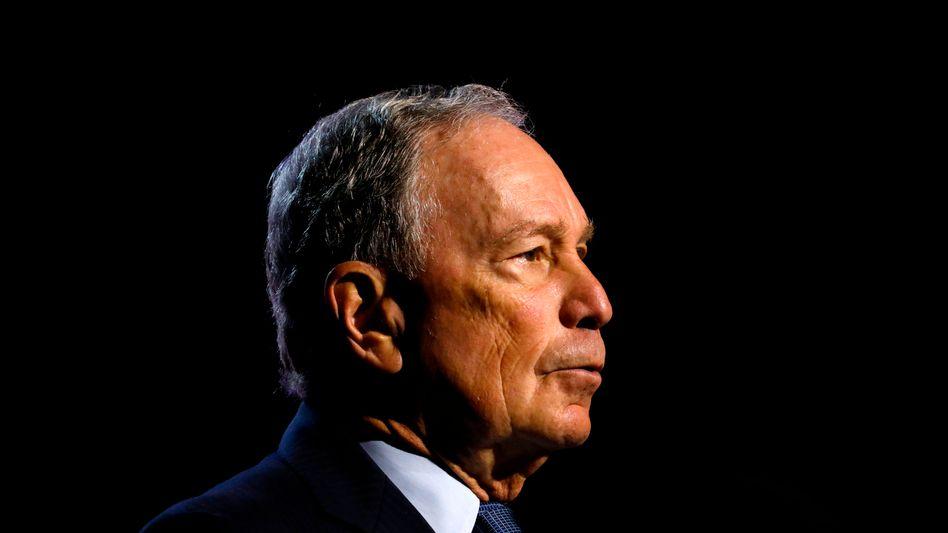 """Kandidat Michael Bloomberg: """"Wir können uns keine vier weiteren Jahre mit Präsident Trumps fahrlässigen und unethischen Handlungen leisten."""""""