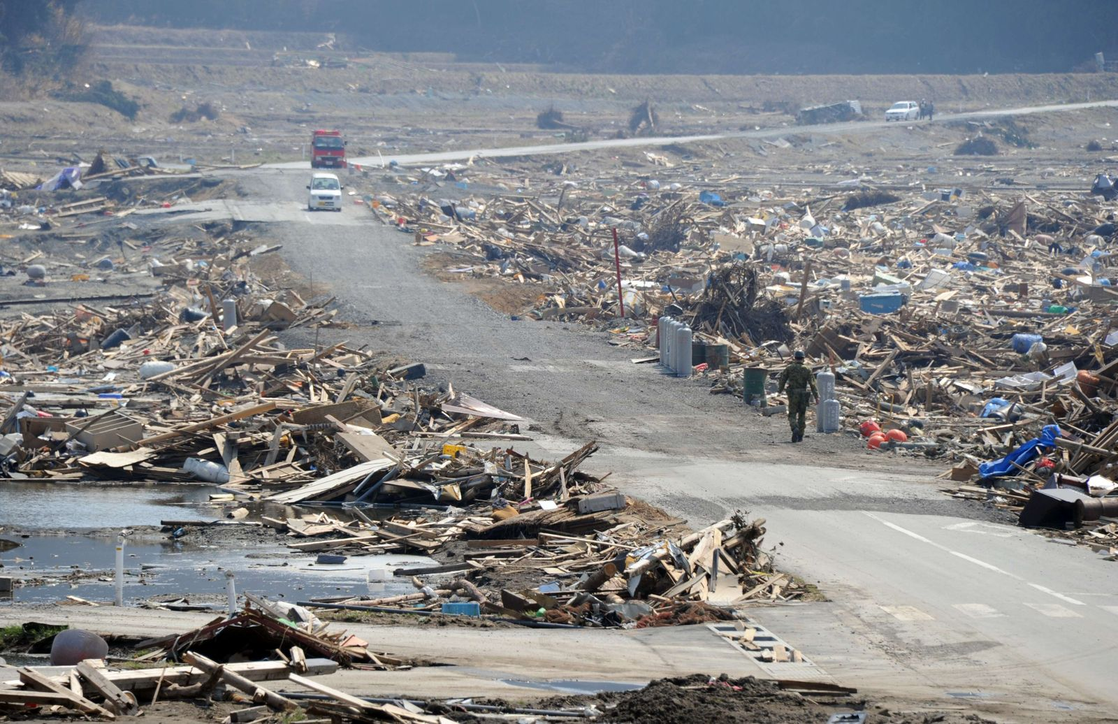 Japan / Erdbeben / Tsunami / Rikuzentakata / Aufräumarbeiten