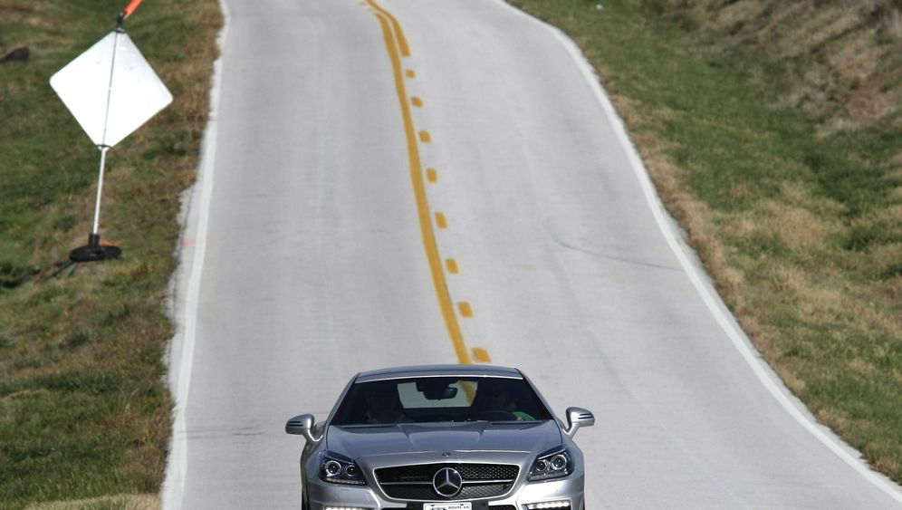 Mercedes SLK 55 AMG: Sparfahrt auf der Route 66
