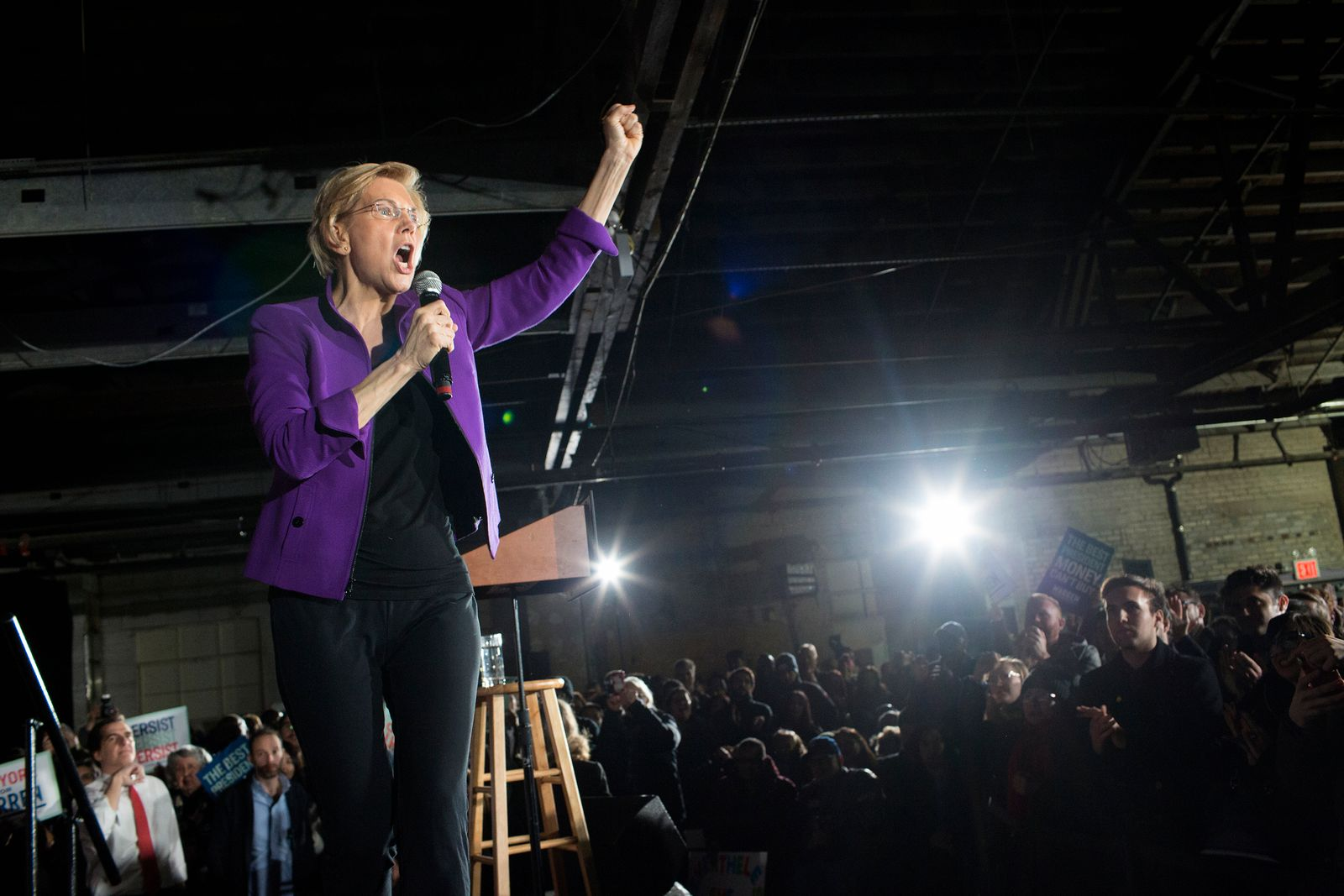 Elizabeth Warren presidential campaign rally in Long Island City, Queens