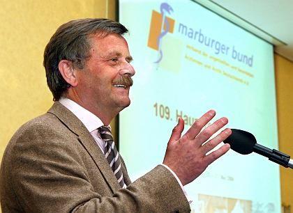 Tritt ab: Marburger-Bund-Chef Montgomery