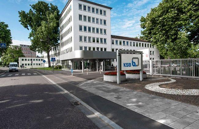 Das Verwaltungsgebäude der KSB in Frankenthal