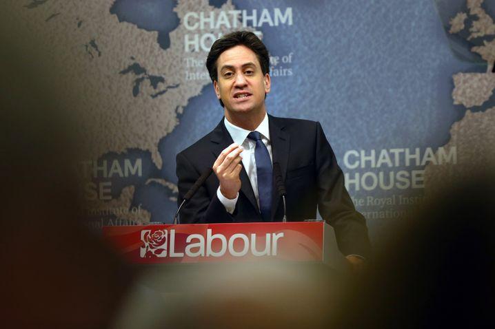 Unterlegener Labour-Chef Miliband: Im Gegensatz zu Cameron stellt er die Mitgliedschaft in der EU nicht in Frage