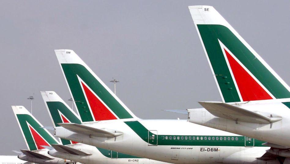 Steht vor dem Aus: Die italienische Airline Alitalia schwebt in schweren Turbulenzen