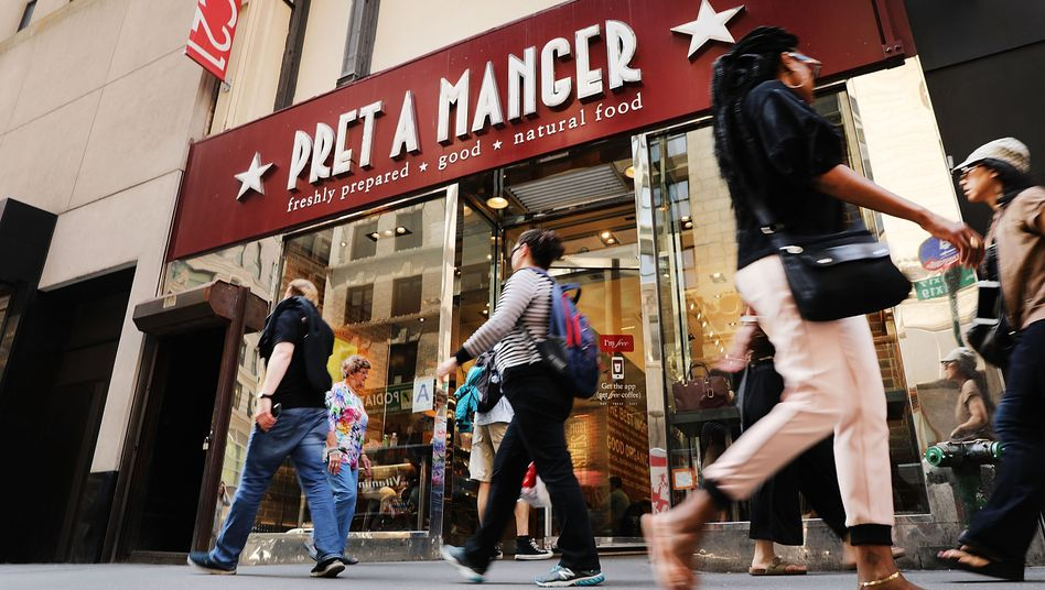 Pret-a-Manger-Filiale in New York City