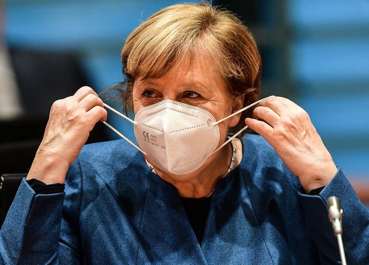 """Nationale Kraftanstrengung"": Bundeskanzlerin Angela Merkel heute in Berlin."