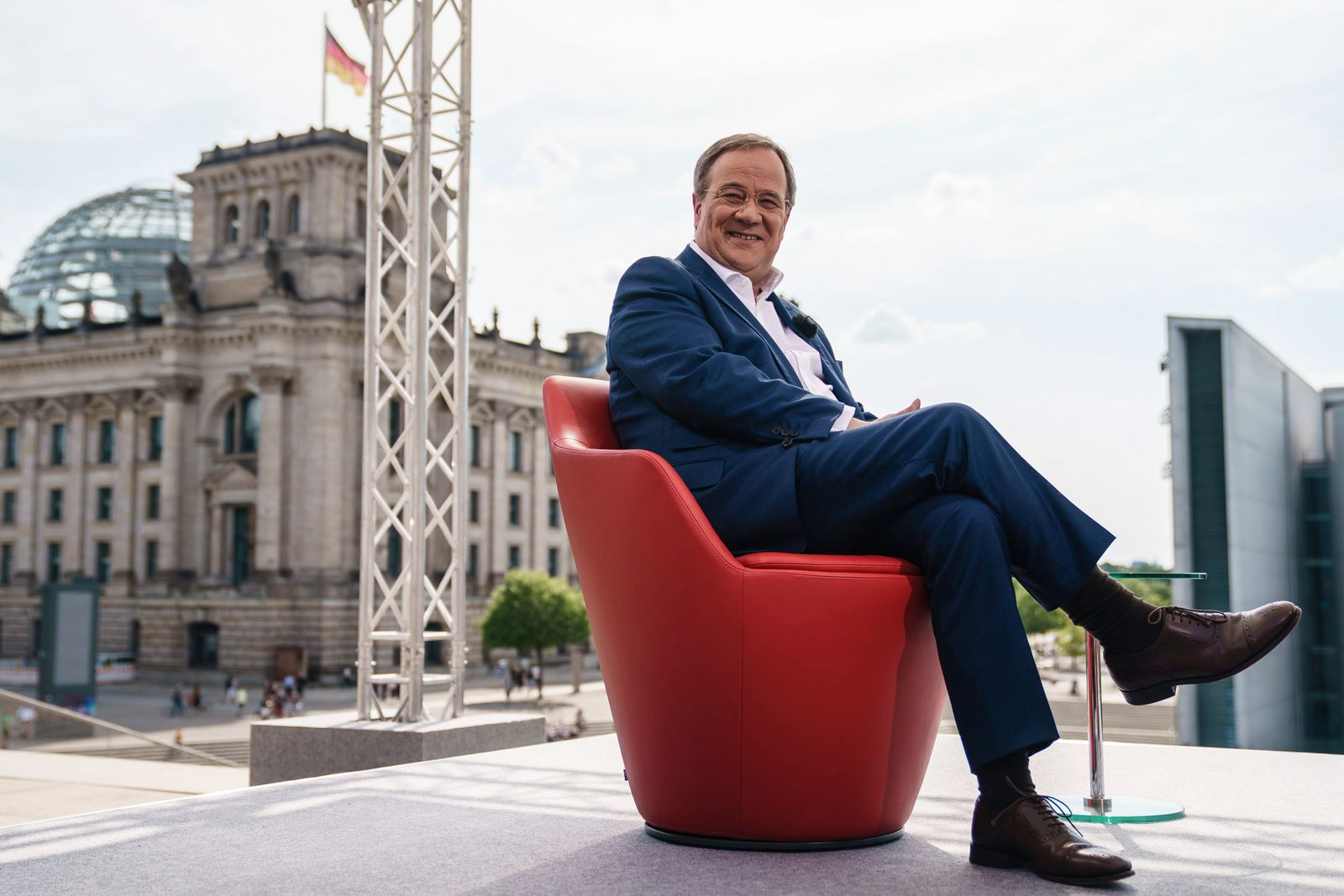 CDU top candidate for the federal elections Armin Laschet attends ARD summer interview