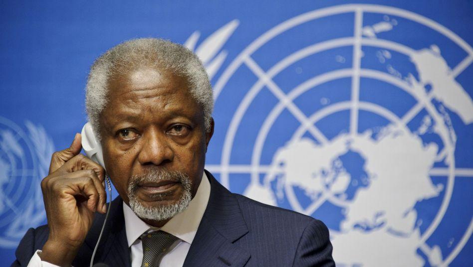 """Kofi Annan warnt: Es drohe ein Übergreifen auf die gesamte Nahost-Region und """"eine neue Front für den internationalen Terrorismus""""."""