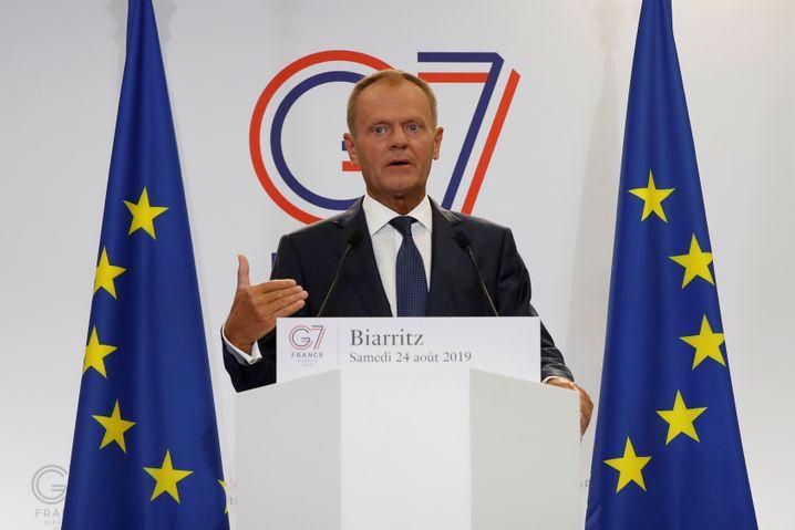 Auf Drohungen von Donald Trump feuert EU-Ratspräsident Donald Tusk erstmal verbal zurück ...