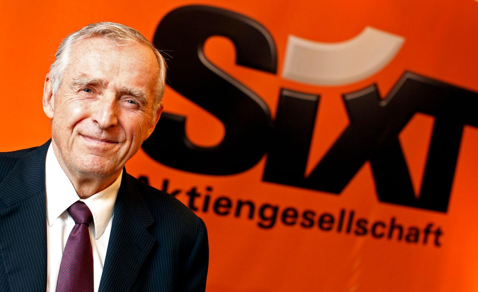 NICHT VERWENDEN Erich Sixt / Sixt-Logo