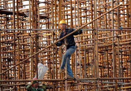 Bau auf: In China zieht die Konjunktur an