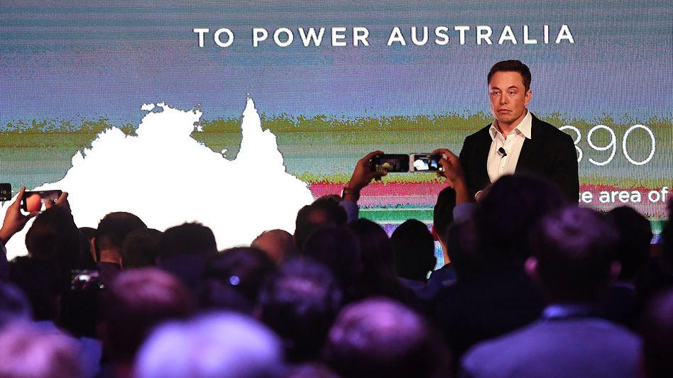 Elon Musk in Australien, dem Schlüsselland für seine Energie-Sparte