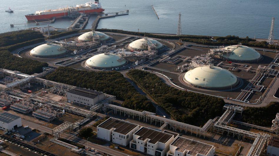 Flüssiggas-Terminal in Japan: In Deutschland derzeit kaum denkbar