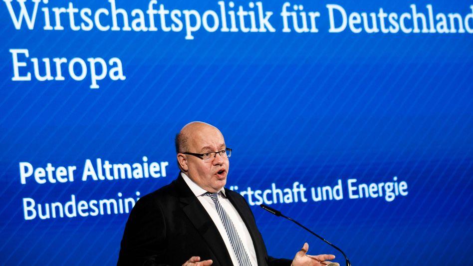 """Wirtschaftsminister Peter Altmaier (CDU): """"Intensiv vorbereitet"""""""