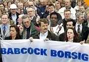 Babcock-Borsig-Mitarbeiter: Angst um den Arbeitsplatz